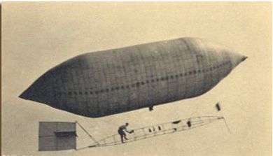 Strobel Airship appeared in Valdosta in 1909 (photographed in Michigan)