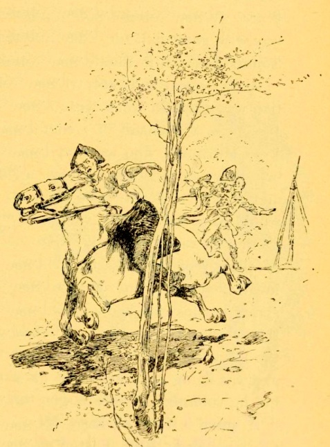 Daniel McGirth made more than one narrow escape. Illustration from Stories of Georgia, by Joel Chandler Harris.