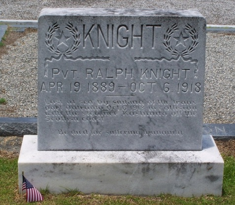 Ralph Knight, Beaver Dam Cemetery, Ray City, GA