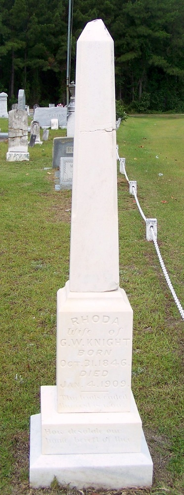 Grave of Rhoda Futch Knight, Empire Church Cemetery, Lanier County, GA