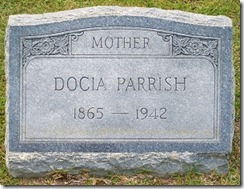 Grave of Docia Rigell Parrish, Beaver Dam Cemetery, Ray City, GA