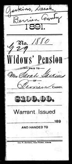 Confederate Widows Pension