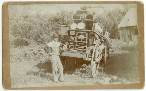 Wrought Iron Range Salesman, circa 1890