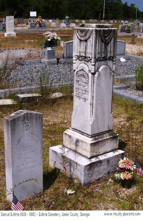 Grave Marker of Samuel Guthrie