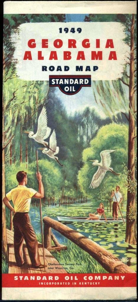 1949 Georgia Map, Standard Oil Company