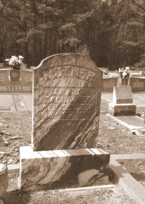 Grave of Clara Sirmans Gallagher, Empire Cemetery, near Ray City, GA