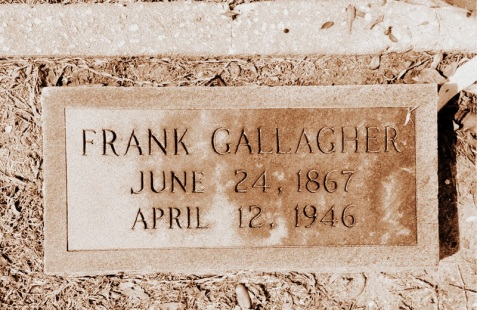 Grave of Frank Gallagher, Empire Cemetery, near Ray City, GA