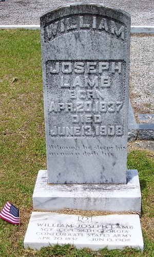 William Joseph Lamb (1837 - 1908).  Beaver Dam Cemetery, Ray City, GA.