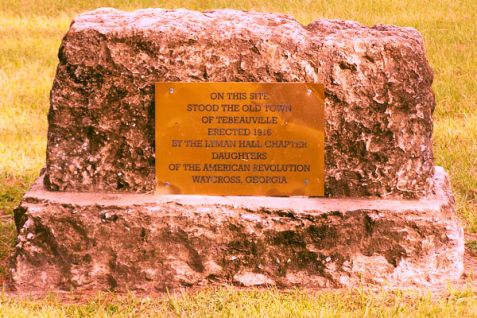Tebeauville Historic Marker, Waycross, GA