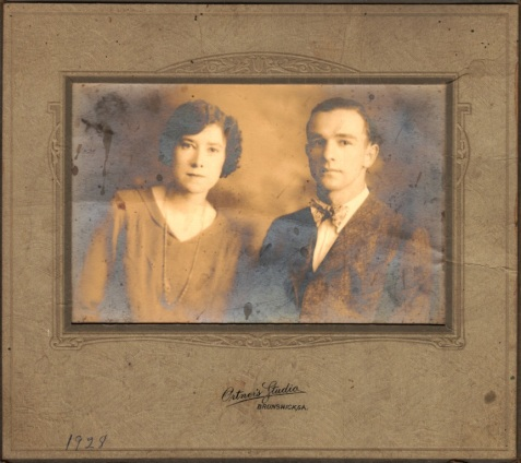 Lessie Guthrie Miley and John David Miley, 1928, Brunswick, GA.