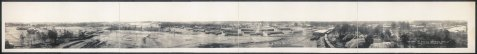 Panoramic View of Camp Gordon, Atlanta GA, 1918.<br> Gordon Williams and other men Berrien County, GA trained at Camp Gordon.