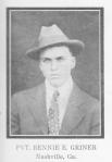 Bennie E. Griner ~ WWI ~ Berrien County, GA