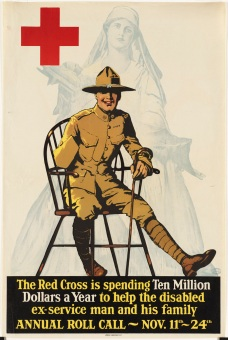 Red Cross Poster for WWI Wounded Warriors