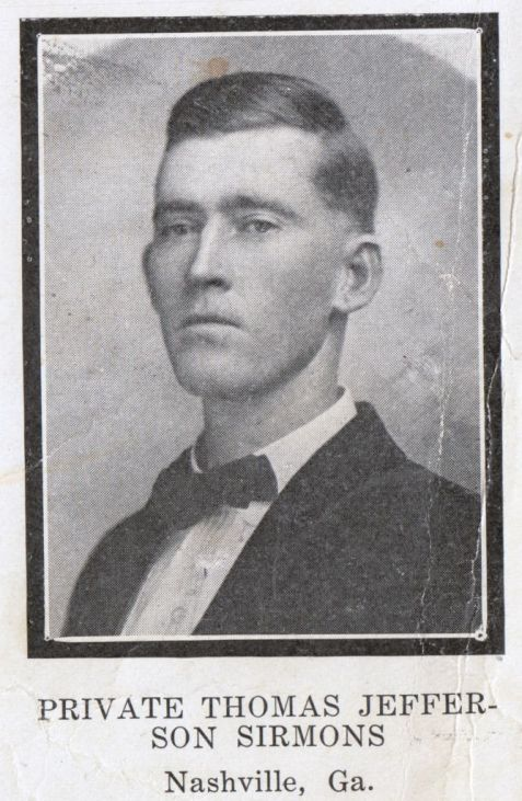 PRIVATE THOMAS JEFFERSON SIRMONS