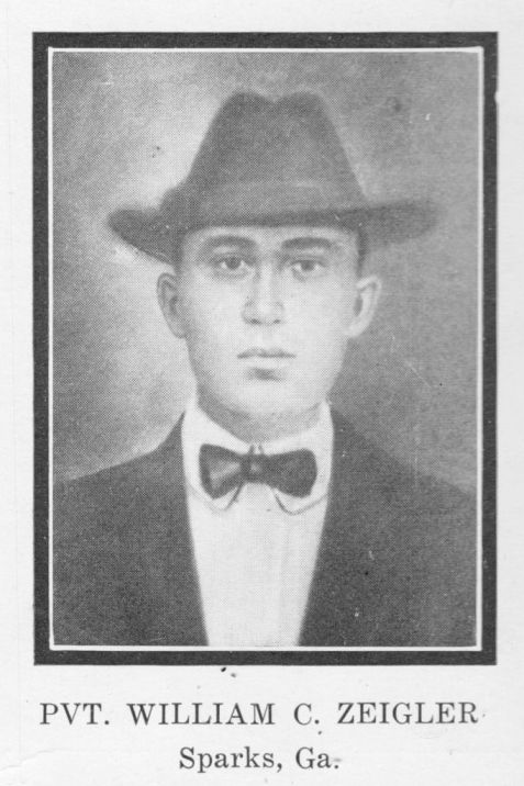 William Charles Zeigler of Berrien County, GA was a victim of the Otranto disaster in the closing days of WWI