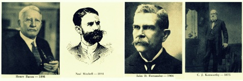Drs. Henry Bacon, Neal Mitchell, John Domingo Fernandez, and Charles J. Kenworthy, all of Jacksonville, FL were the first doctors to arrive at the 1888 train wreck at Hurricane Trestle,near Blackshear, GA