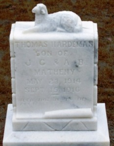 Thomas Hardeman Matheny, 1914-1916, Empire Church Cemetery, Berrien County, GA