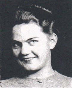 Frances Clements, 1939 high school photo,  Ray City, GA