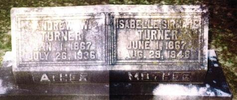 Graves of Andrew Washington Turner and Isabelle Sirmans Turner, Sunset Hill Cemetery, Valdosta, GA