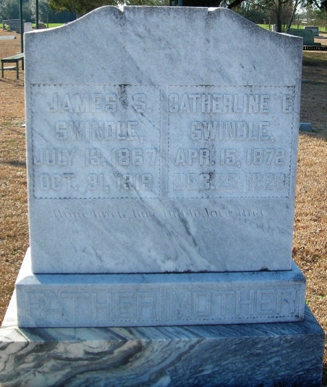 Catherine Knight Swindle, (1872-1928) Pleasant Cemetery, Berrien County, GA. Wife of James S. Swindle and daughter of John W. Knight.