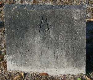 Grave marker of D. Edwin Griner (June 21, 1870 - March 12, 1942), New Ramah Cemetery, Ray City, Berrien County, Georgia.