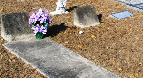 "Griner graves at New Ramah Cemetery, Ray City, Berrien County, GA. Left: Sarah ""Sallie"" Rouse Griner. Middle: D. E. Griner. Right: Willie ""Bill"" Edwin Griner."