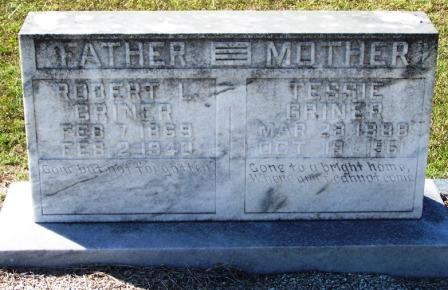 Robert Lee Griner (1869-1940) and Tessie Vining (1888-1961), Beaver Dam Cemetery, Ray City, Berrien County, Georgia.