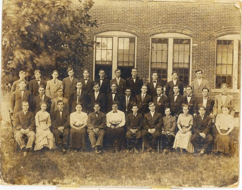 Students at Georgia Normal College and Business Institute. Abbeville, Georgia, 1911. Hod P. Clements (back row, 3rd from left) later became a banker in Ray City, GA.