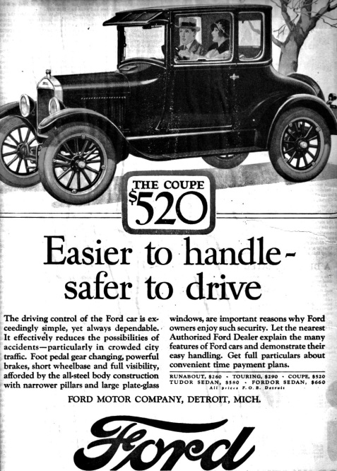 1926 Ford Coupe Advertisement