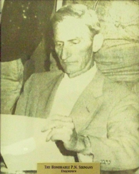 Ray City Councilman Pleamon N. Sirmans, photographed at a City Council meeting on January 6, 1959.
