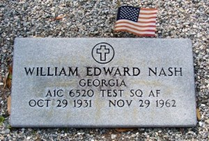 William Edward Nash, Long Bridge Cemetery, Berrien County, GA