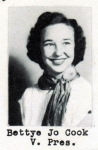 Bettye Jo Cook, Vice President, Class of 1951, Ray City School, Ray City, GA