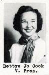 Bettye Jo Cook, Vice President, Class of 1951, Ray City School, Ray City, GA