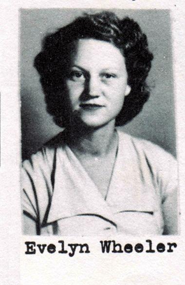 Evelyn Wheeler, Class of 1951, Ray City School, Ray City, GA