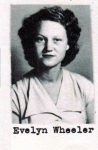 Evelyn Wheeler, Class of 1951, Ray City School, Ray City, GA