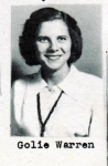 Golie Warren, Class of 1951, Ray City School, Ray City, GA