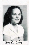 Hazel Croy, Class of 1951, Ray City School, Ray City, GA