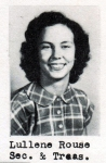 Lullene Rouse, Secretary and Treasurer, Class of 1951, Ray City School, Ray City, GA