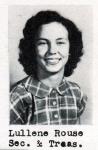 Lullene Rouse, Secretary and Treasurer, Class of 1951, Ray City School, Ray City, GA