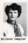Mildred Dampier, Class of 1951, Ray City School, Ray City, GA