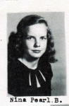 Nina Pearl B., Class of 1951, Ray City School, Ray City, GA