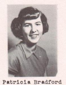 Patricia Bradford, 1951 Junior Class portrait, Ray City School, Ray City, GA.