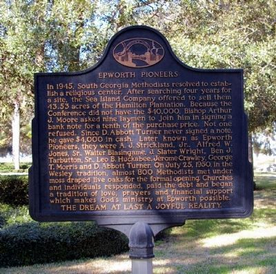 Epworth Pioneers Historical Marker. Image courtesy of David Seibert and http://www.hmdb.org