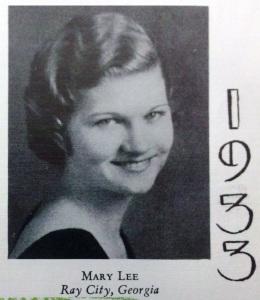 Mary Lee of Ray City, GA at Georgia State Womans College (nka Valdosta State University)