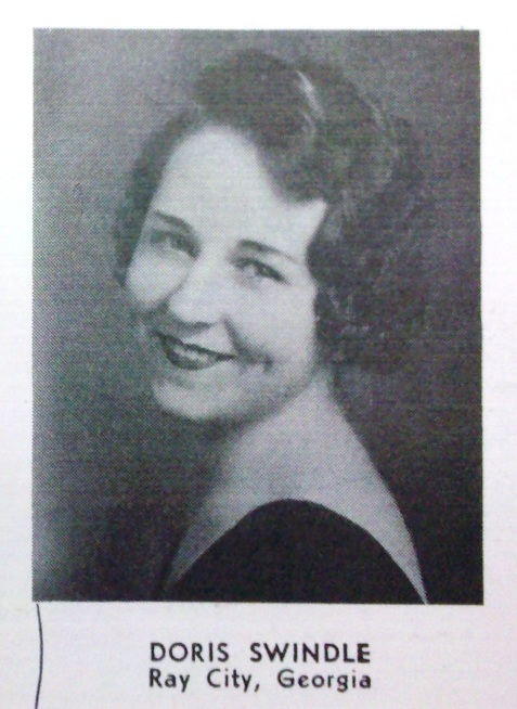1934 Doris Swindle, Georgia State Womans College