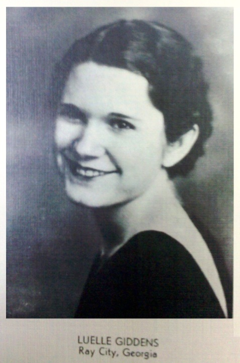 Louelle Giddens, 1935, Georgia State Womans College, Valdosta, GA