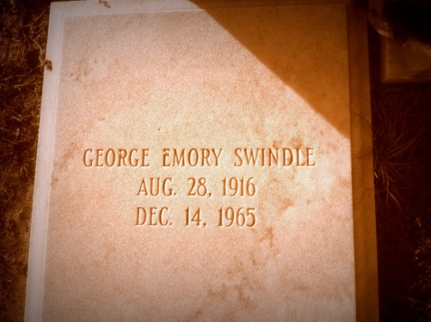 Grave of George Emory Swindle, Beaver Dam Cemetery, Ray City, GA.