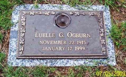 Gravemarker, Luelle Giddens Ogburn.