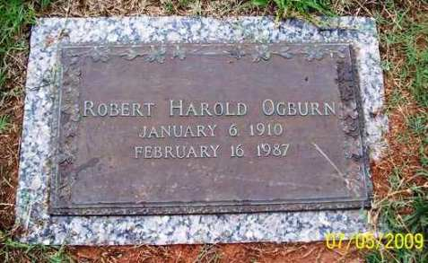 Gravemarker, Robert Harold Ogburn.