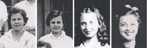 Ray City Girls, (L-R) Louise Paulk, Helen Swindle, Grace Putnal, Carolyn Swindle.